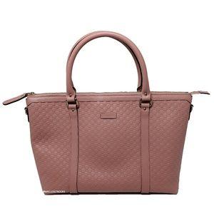 Gucci Soft Pink Leather Micro GG Joy Handbag